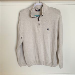 Chaps Sweaters - Blacks and tan 1/4 (quarter) zip sweater.